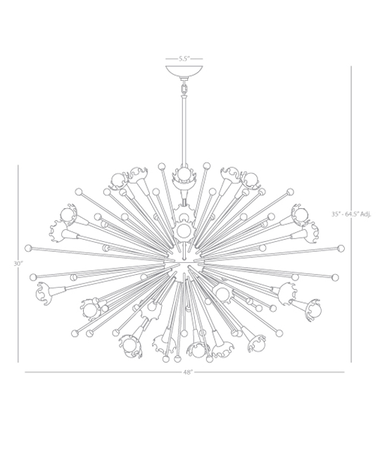 Giant Sputnik Chandelier Isometric 1