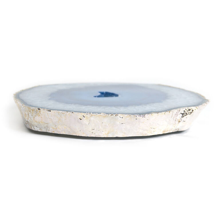 Holding Category for Inventory - Blue and Silver Agate Trivet
