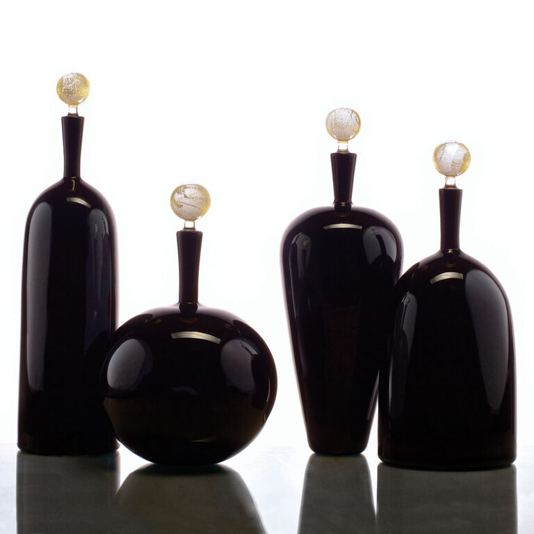 Decanters & Carafes - Joe Cariati Carmella Low Round Bottle