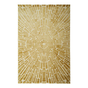 Hand-Knotted - Gold Sunburst Hand-Knotted Rug