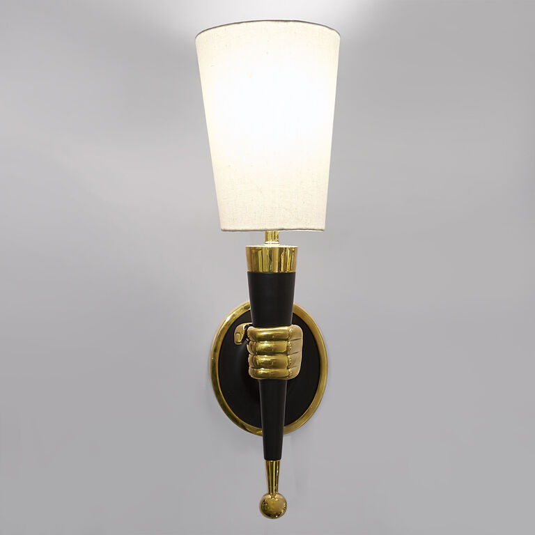 Holding Category for Inventory - Brass Hand Sconce