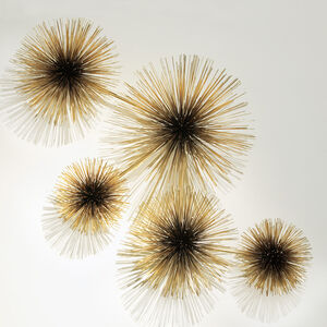 C. Jeré Sculptures - C. Jeré Brass Urchin Sculpture Wall Art