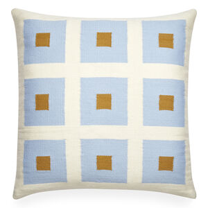 Patterned - Reversible Light Blue Peter Pop Throw Pillow
