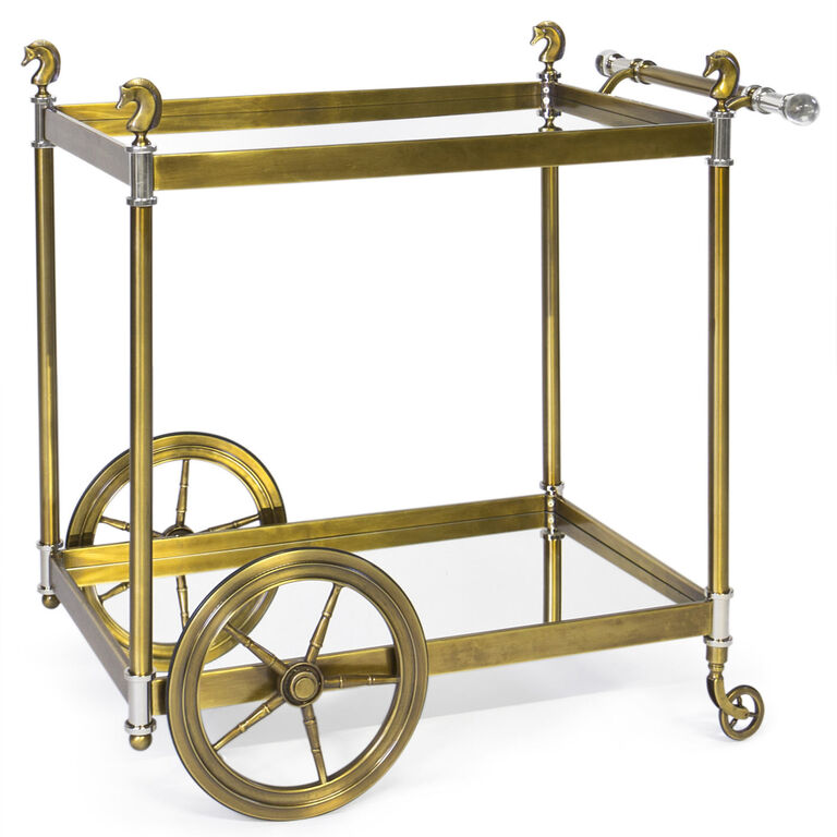 Bars & Bar Carts - Cheval Bar Cart