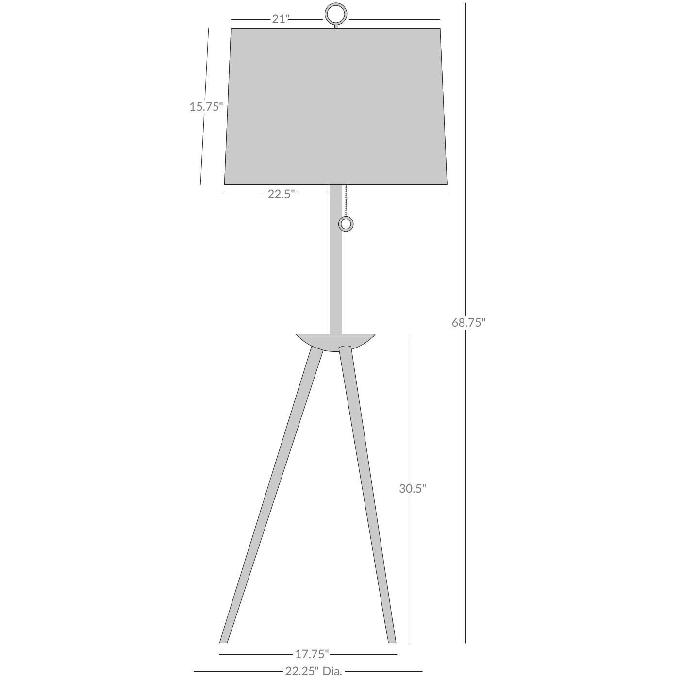 Floor Lamps   Ventana Tripod Floor Lamp