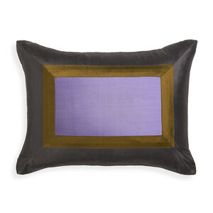 Solid - Lavender Siam Silk Throw Pillow