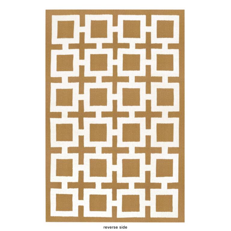 Peruvian Flat Weave - Camel Nixon Peruvian Llama Flat Weave Rug