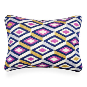 Patterned - Lavender Bargello Diamonds Throw Pillow