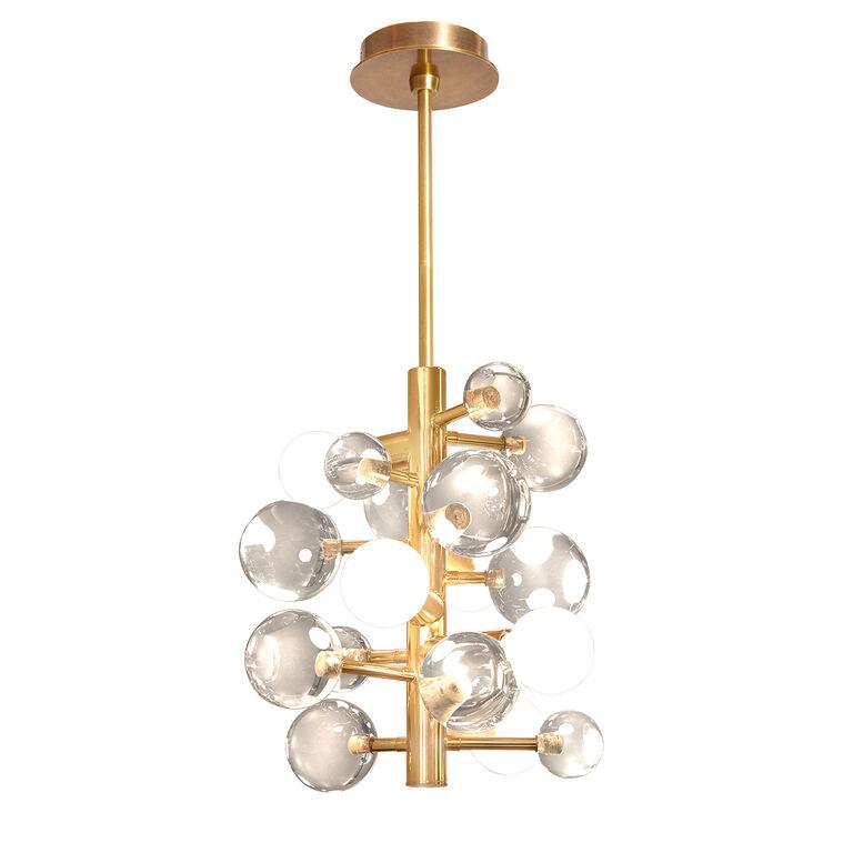 globo clear five light chandelier modern chandeliers jonathan adler. Black Bedroom Furniture Sets. Home Design Ideas