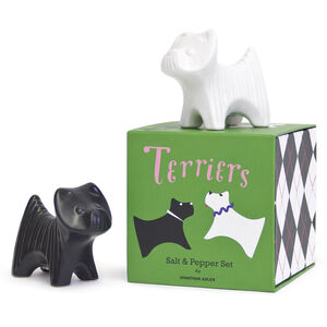 Salt & Pepper Shakers - Terrier Salt & Pepper Shakers