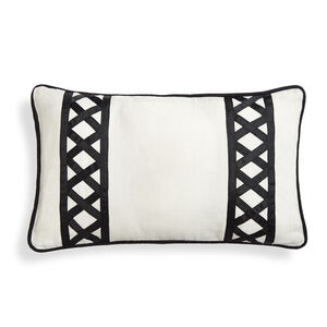 Textured & Embellished - Positano Border Throw Pillow
