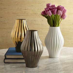 Vases - Metallic Belly Vase