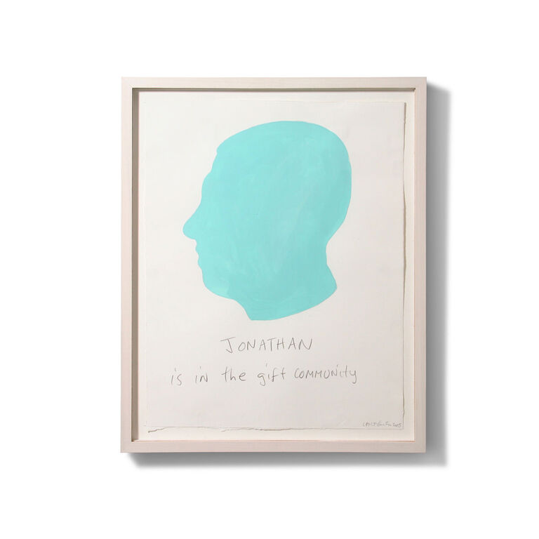 Carter Kustera - Carter Kustera Custom Silhouette and Text Portrait 12 x 9
