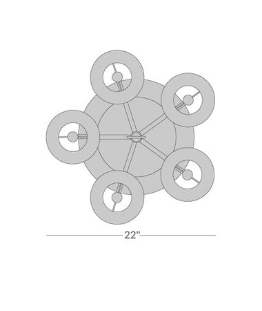 Ventana Spiral Floor Lamp Isometric 2