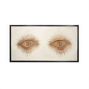 Beaded - Eyes Beaded Wall Art
