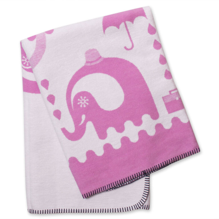 Holding Category for Inventory - Pink Junior Animal Blanket