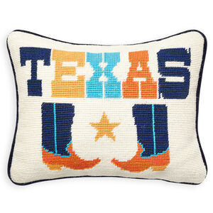 Needlepoint - Texas Needlepoint Throw Pillow