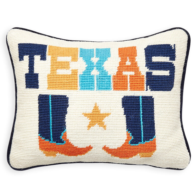 Holding Category for Inventory - Texas Needlepoint Throw Pillow