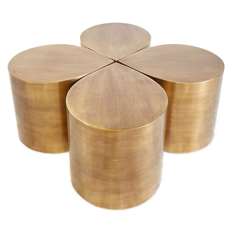 All Furniture - Brass Teardrop Table