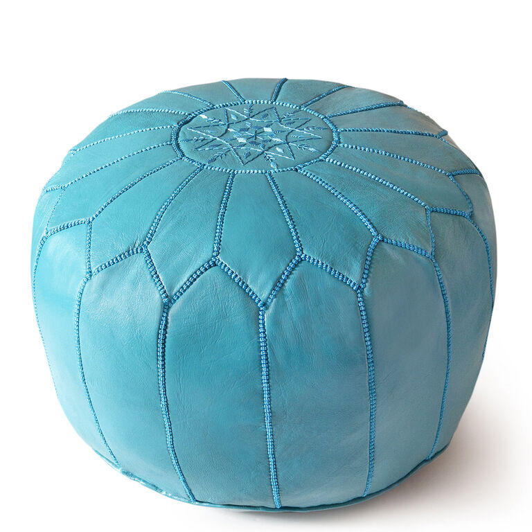 Holding Category for Inventory - Leather Moroccan Pouf