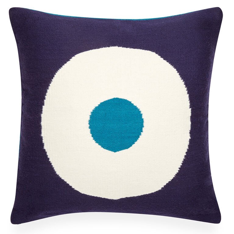 Patterned - Reversible Turquoise Lucky Strike Pop Throw Pillow