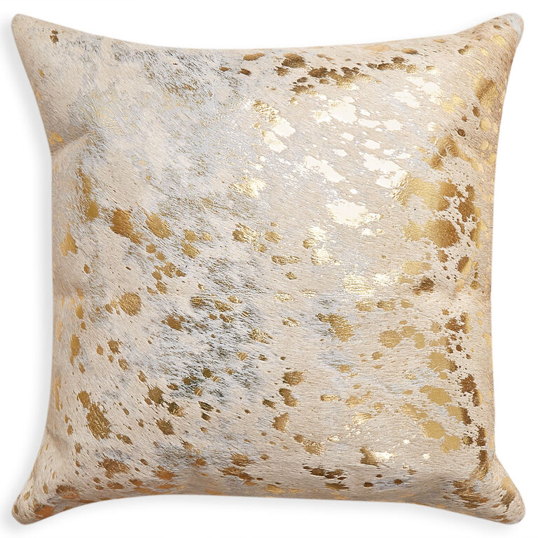 Throw Pillow Website : Cowhide Metallic Throw Pillow Throw Pillows Jonathan Adler