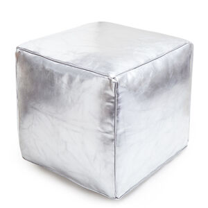 Benches & Ottomans - Cube Leather Moroccan Pouf