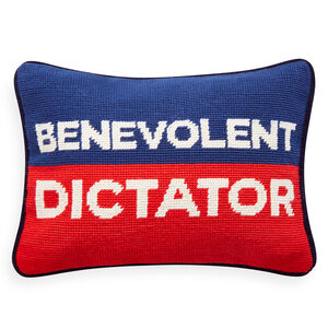 Needlepoint - Benevolent Dictator Needlepoint Pillow