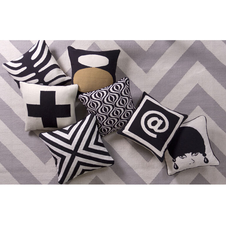 Black throw pillows