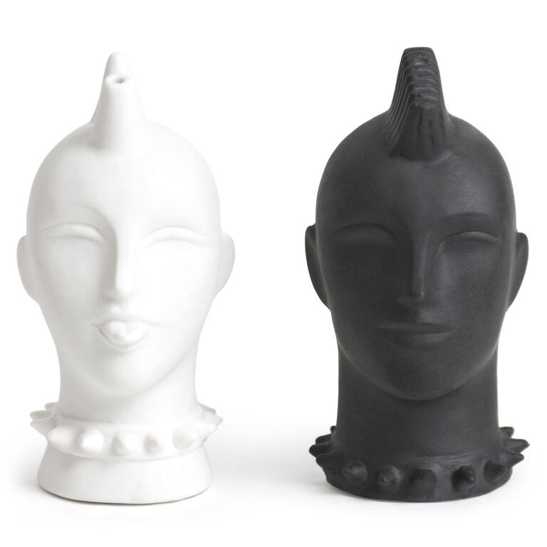 Mohawk salt pepper shakers modern dining jonathan adler - Jonathan adler salt and pepper ...