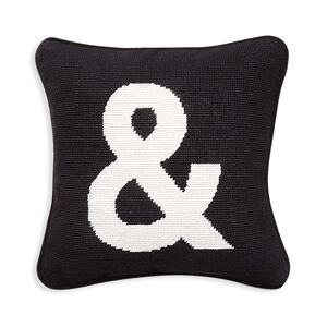 "Needlepoint - ""&"" Needlepoint Throw Pillow"