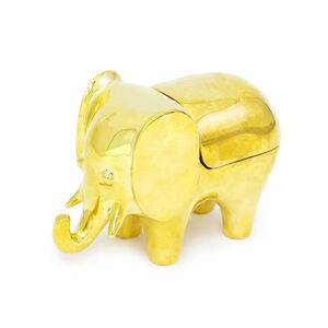 Boxes & Canisters - Brass Elephant Box