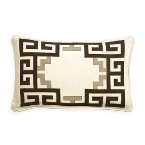 Patterned - Peking Greek Key Border Throw Pillow