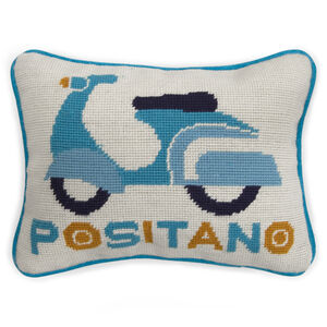 Needlepoint - Positano Needlepoint Throw Pillow