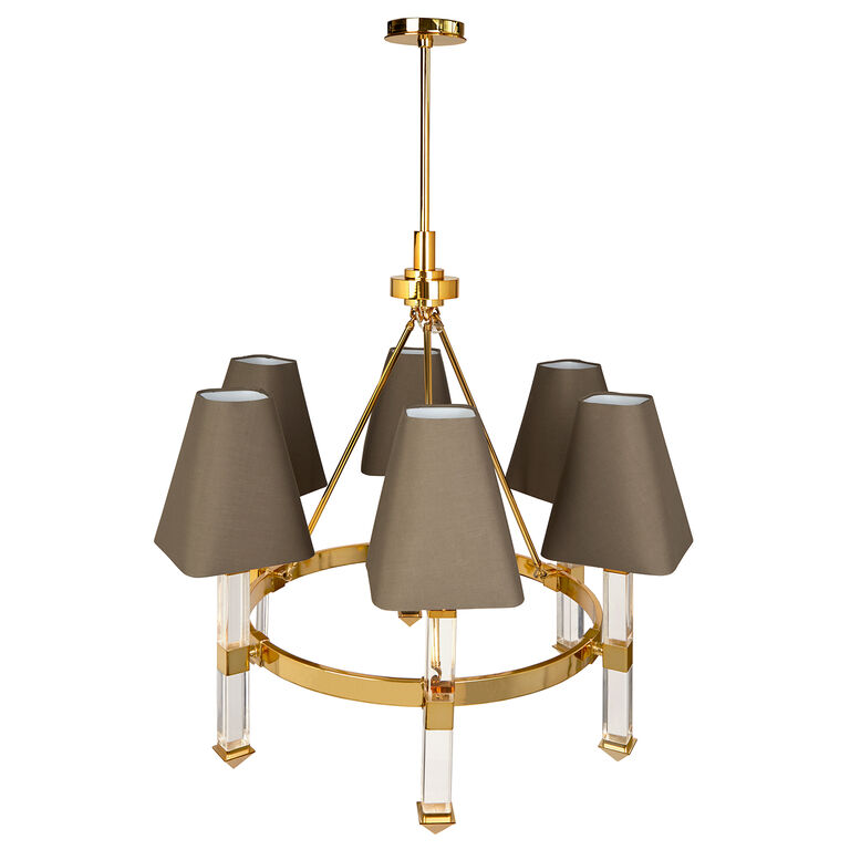 Chandeliers - Jacques Six-Arm Chandelier