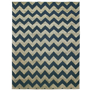 Jonathan Adler for Kravet - Jonathan Adler For Kravet Denim Jagged Area Rug