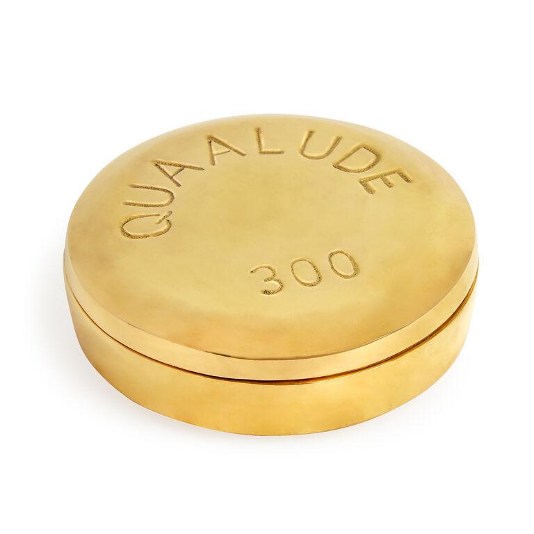 Brass Objets - Quaalude Brass Pill Box