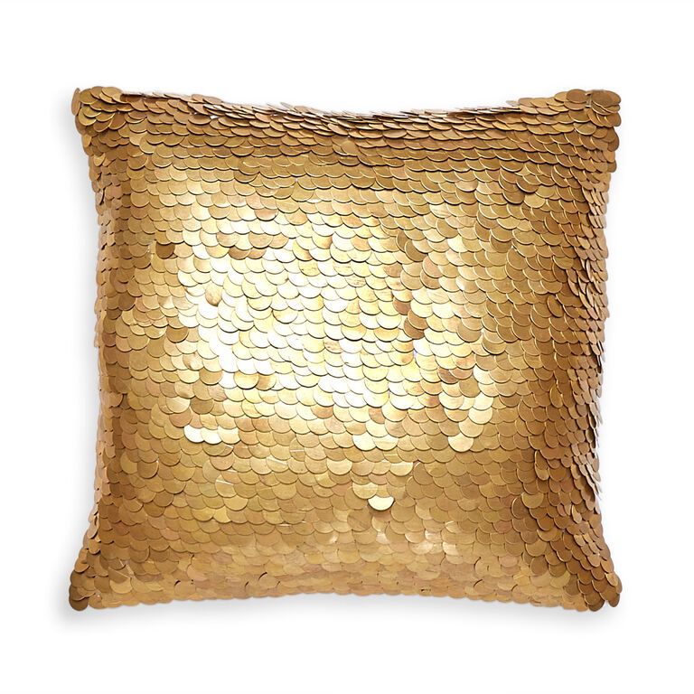Modern Gold Pillows : Talitha Discs Gold Throw Pillow 12 x 12 Jonathan Adler