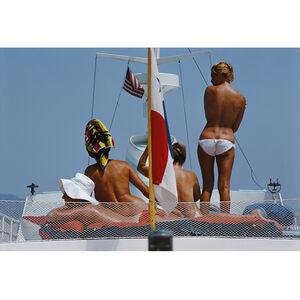 "Slim Aarons - Slim Aarons ""Yacht Holiday"" Photograph"