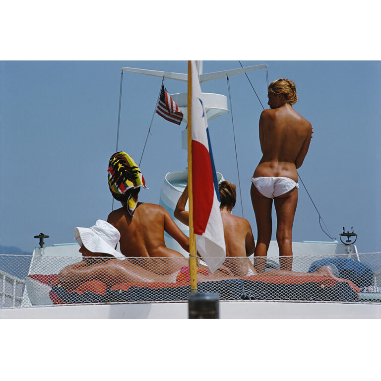"Slim Aarons - Slim Aarons ""Yacht Holiday"" Photograph"