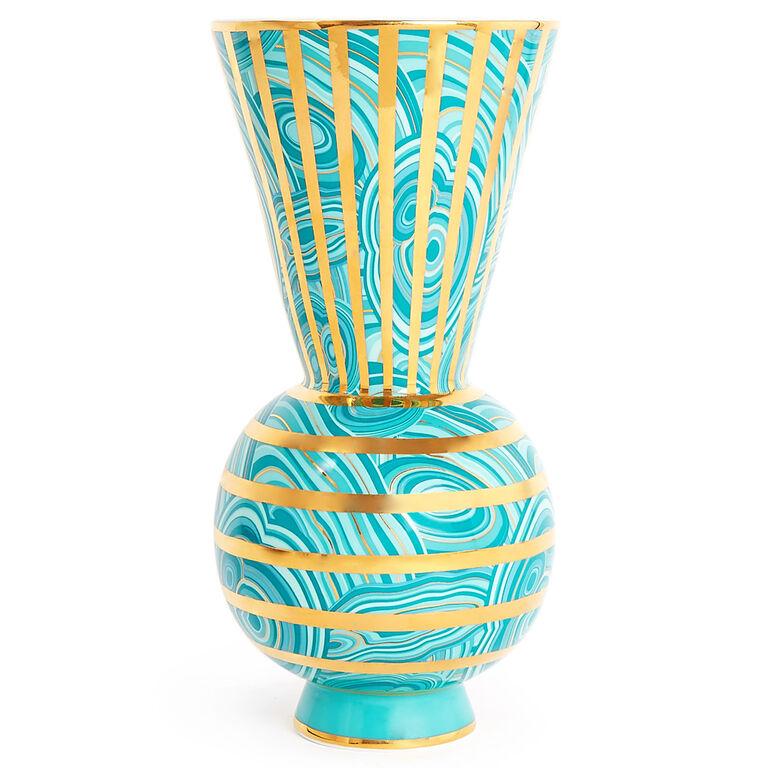 malachite rings vase pottery jonathan adler. Black Bedroom Furniture Sets. Home Design Ideas