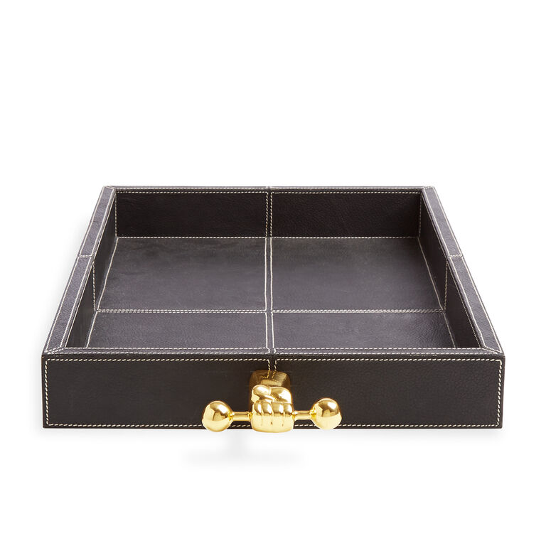 Trays - Barbell Leather Tray