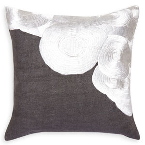 Textured & Embellished - Malachite Satin Stitch Square Throw Pillow