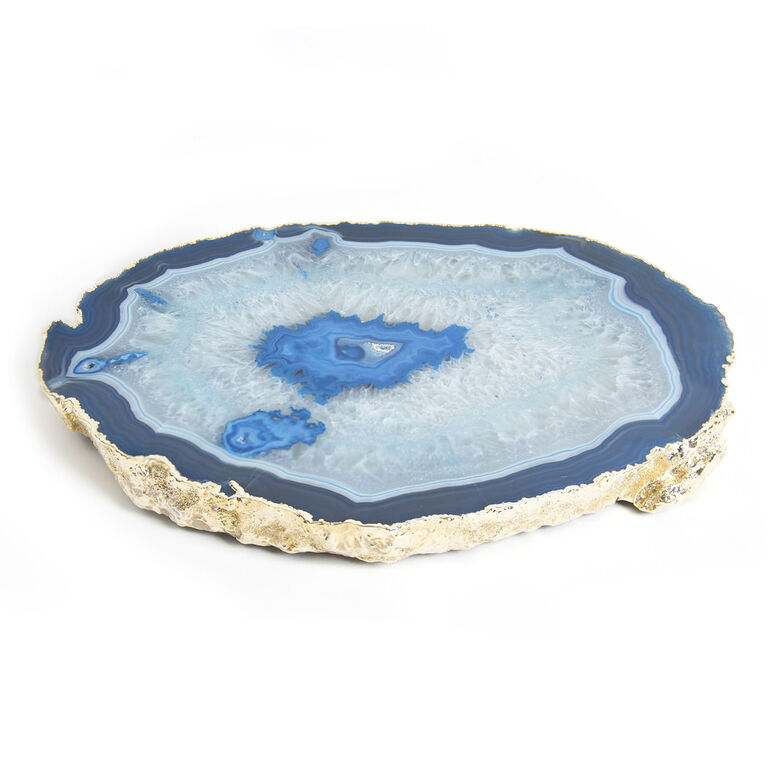 Holding Category for Inventory - Blue and Gold Agate Trivet