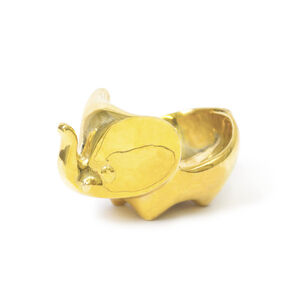 Brass Objets - Brass Elephant Ring Bowl