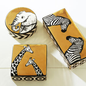 Boxes & Canisters - Animalia Zebra Decorative Box