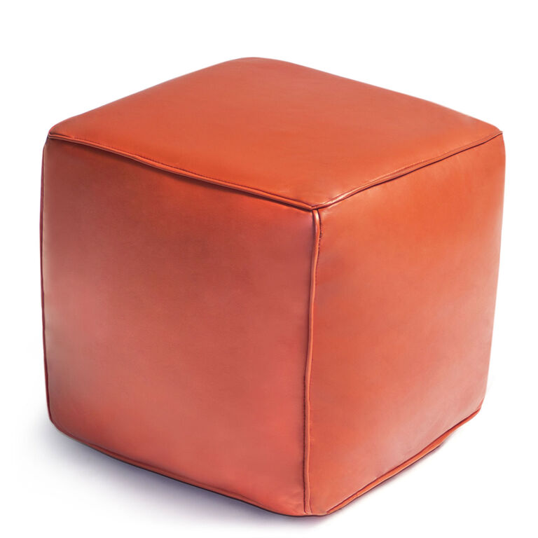 cube leather moroccan pouf modern furniture jonathan adler. Black Bedroom Furniture Sets. Home Design Ideas