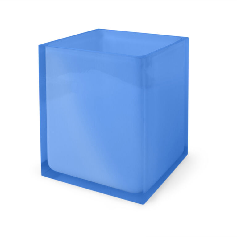 Bath Accessories - Blue Hollywood Wastebasket