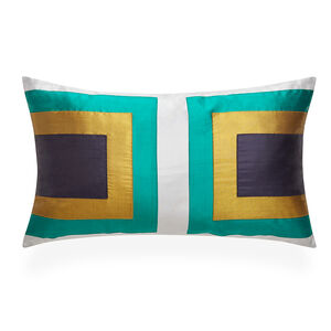 Patterned - Emerald Siam Collision Throw Pillow
