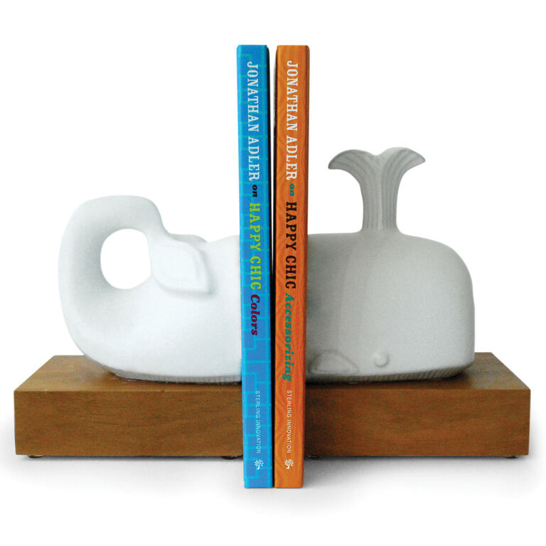 Bookends - Menagerie Whale Bookend Set